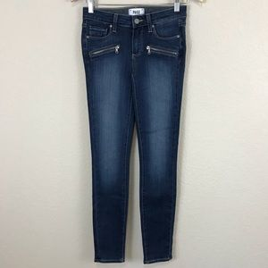 Paige Indio ZIP Medium Wash Skinny Jeans NWOT